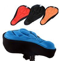 cobertura de assento gel gel venda por atacado-4 cores Ciclismo bicicleta Selas 3D confortável gel de silicone Seat Cover almofada macia bicicleta Pad Mountain Bike Parts Acessórios frete grátis