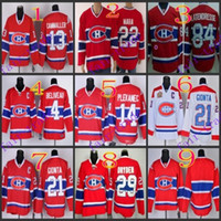 Wholesale Hockey Jersey Gionta - Stitched Montreal #14 Plekanec Blank 21 GIONTA 22 MARA 29 DRYDEN Red winter classic Ice Hockey Jersey Mix Order