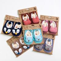 3d karikatur schuhe großhandel-Winter Baby Socken 3D Cartoon Coral Fleece Boden Schuhe Socken Baumwolle Skidproof Boden Stiefel Für Herbst Kurze Strümpfe 0-5T 519