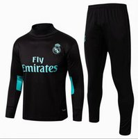 Wholesale S M Wear - hot 17 18 Real Madrid soccer Tracksuit RONALDO ASENSIO Track suits jacket 2017 2018 Real Madrid chandal training suits sports wear
