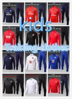 Wholesale Men S Suit Bags - Thailand quality 1718 Madrid sport jacket suit bag 2017 2018 Madrid football shirt kids Atletico soccer training suit Paris training suit