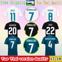 Wholesale Host M - 2018 Thailand best quality soccer jerseys, 2017   18 Ronaldo BALE ASENSIO ISCO BENZEMA MODRIC KROOS host guest football jerseys jeresys