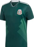 jersey mundo méxico al por mayor-2018 Copa del Mundo México camisetas de fútbol de alta calidad CHICHARITO R MARQUEZ G DOS SANTOS O PERALTA HERRERA camiseta de fútbol camisa camisetas de futbol
