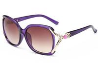 Wholesale Sunglasses Flowers - Sunglasses For Women Designer Sunglasses Womens Rhinestone Sunglass UV 400 Flower Sun Glasses Ladies Fashion Oversized Sunglases AC1J00