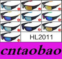 Wholesale Exclusive Sunglasses - HL2001 10 options MOQ=10pcs Latest Ken block sunglasses exclusive classic dazzle colour fashion sunglasses frame sunglasses driving glasses
