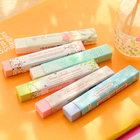 Wholesale kawaii lipstick resale online - Cube Pencial Kawaii Eraser Cute School Supplies Stationery Erasers Correction Products