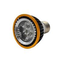 Wholesale Led 12w Rgb E14 - Retail High power Dimmable LED Light PAR20 12W Spotlight E27 GU10 E14 B22 110V 220V White Warm White bulb