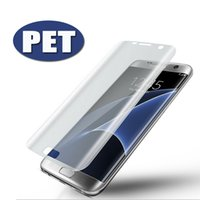 Wholesale Screen Protector Pet Film - 3D Curved Full Cover Soft PET TPU Film Explosion-proof Font Screen Protector For Samsung Galaxy S8 Plus S6 S7 Edge