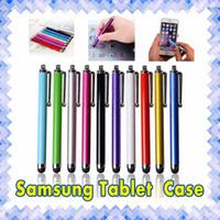 apfel-handy-stift großhandel-Stylus Pen Kapazitiver Touchscreen Für Universal Handy Tablet iPod iPad Handy iPhone 5 SE 6 S 6plus MultiColors 01