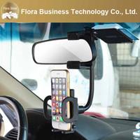 rückspiegel gps halterungen großhandel-2016 großhandel Auto Cradle Rückspiegel Universal Halter Ständer Halterung für Handy GPS Günstigen Preis Freies Verschiffen