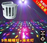 linterna de la etapa de iluminación al por mayor-Láser Mariposa luces habitaciones escenario iluminación linterna ktv barra de flash rayo láser luces láserSky RGB LED Stage Party Disco DJ Home Light