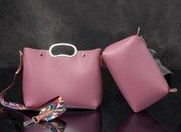 Wholesale Large Piece Artwork - factory sales brand handbag new retro color collocation color elegant ladies handbag strap brand large capacity two piece mother bag