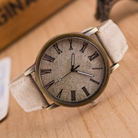 Wholesale Wholesale Mens Vintage Watches - Luxury Classic Watch cowboy Mens watches Vintage leather watch Fashion Quartz Wrist watches retro roma design Dress Watches for women mens