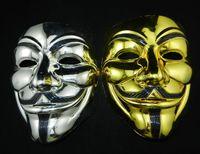 Wholesale Movie Theme - Wholesale Fashion Movie theme V Mask Hallowmas Electroplate Mask Men Full Face Mask Gift Mix Color Mask Free Shipping