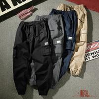 erkek kamuflaj pantolonu gevşek toptan satış-Erkek Rahat Pantolon Gevşek Kargo pantolon Erkek Kamuflaj Pamuk Pantolon Kalem Harem Pantolon Hip Hop Dış Giyim Rahat Erkekler Joggers M-4XL