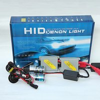 Wholesale 55w Xenon Bulb - super bright fast bright car hid headlight 9005 9006 hb3 hb4 hid kit ac 12v 55w 6000k h1 h3 h7 h11 xenon kit