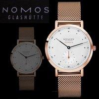 Wholesale German Brand Watches - 2017 German NOMOS brand men's luxury watch Fashion montre homme steel strip Quartz Men's Watches Reloj Clock Hombre Wristwatches NOMOS watch