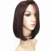 Wholesale Remy U Part Wig - Hair Products Bob Wig Silky Straight Wig Brazilian Virgin Human Hair Bob U-Part Lace Front Glueless Bob Wig 2 99J