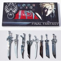 Wholesale Cosplay Game Models - 8pcs set Game Anime Cartoon Final Fantasy Weapons Metal Sword Cosplay Model Matel Swords