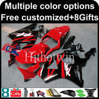 Wholesale Cbr954rr Plastics - 23colors+8Gifts red kit motorcycle cowl for HONDA CBR954RR 2002-2003 CBR954 RR 02 03 ABS Plastic Fairing