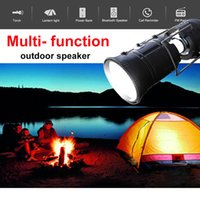 X5 Multifunzione Magic Solar Power Music Lampada Altoparlante Bluetooth senza fili con Power Bank Camping esterna Radio FM MP3 Speaker Light Torch