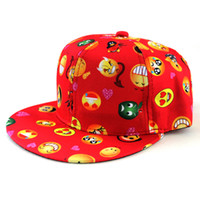 Wholesale Girls Snapbacks Hats - Kids Sport Ball Hats Snapbacks Baby Cartoon QQ Emoji Caps Children Hip Hop Hat Girls Boys Snapback Baseball Cap Gifts 2016 Fashion hot