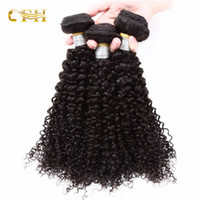 Wholesale Thick 22 Hair Extensions - Brazilian kinky Curly Remy A+ Hair Weave Bundles Unprocessed Peruvian Malaysian Indian Cambodian Mongolian Human Hair Extensions thick ends
