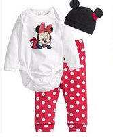 Wholesale Cheap Clothing Boy Girl - 1piece retail cheap China 2016new fashion infant toddler baby boys girls rompers pure cotton boys clothes 80-90-95 3sets lot