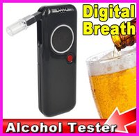 Wholesale Alcohol Safety - AD6000NS Police Professional alcohol tester Digital Breath Tester Breathalyzer Analyzer Red LED Backlight Portable For Drive Safety