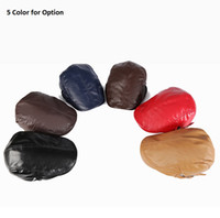 Wholesale Peaked Cap Leather - 2016 New Fashion leather PU Beret adjustable trendy Baseball cap Men's Peaked cap Gentleman cap classical Solid color hat Casual, 5 colors