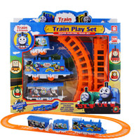 Wholesale Electric Rail Train - Small electric rail train toys Train & Railway Train Play Set battery operated Toys Gifts Children's educational toys free DHL