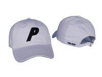 Wholesale Fitted Mesh Baseball Hats - P Snapback Sport Hat Women Men Adjustable Woes Baseball Cap Mesh Trucker Hat HipHop Baseball Palace Cap casquette
