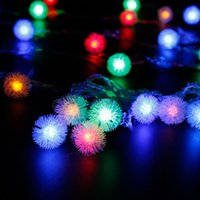 Wholesale Fairy Snow - 10M 100Leds Snow Pompon Led Christmas Lights Fairy Lights Outdoor And Indoor Starry Lighting Decoration Christmas Ornaments