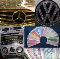 Wholesale Diamond Stickers 3mm - 30PCS lot Diamond DIY Car Stickers Decals 3MM decoration stripe Bling Rhinestone for bag car decoration also Colors mix