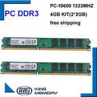 Wholesale Desktop Amd Motherboard - hottest selliing DDR3 1333Mhz 4GB (Kit of 2,2X 2GB DDR3 for Dual Channel) PC2-10600 8bits for all intel and AMD motherboard