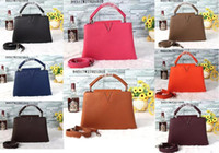 Wholesale Snap Woman - HOT Sale!!Women 94517 Capucines BB Tote Bag,Full-grain Taurillon Leather,Snap Hook Closure,2 Large Compartment,1 Flat POcket,1 Zipped Pocket