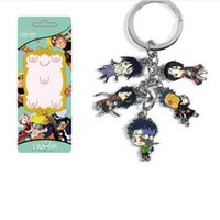 Wholesale Anime Charms - New 10 set lot Multicolor Classic Anime Naruto Uchiha Itachi family Cartoon Metal Figure Pendants keychain Alloy Charms trinkets Wholesale