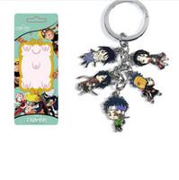 naruto llavero anime al por mayor-Nuevo 10 set / lote Multicolor Anime Clásico Naruto Uchiha Itachi familia de Dibujos Animados de Metal Figura Colgantes llavero de Aleación de dijes baratijas al por mayor