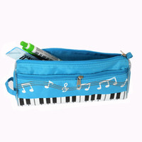 Wholesale Piano Bags - 2016 new send musical note pencil case piano pencil case waterproof oxford cloth pencil bag(2)