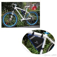 Wholesale 2 Colors Roswheel Mountain Bicycle Bike Bag Front Frame PVC Tube Triangle Bag Quick Release Blue Orange