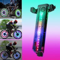 Wholesale Tire Accessories - New 32 LED Motorcycle Cycling Bicycle Bike Wheel Signal Tire Spoke Light 20KM H Speed Cycling Bycicle Accessories Light