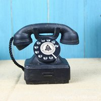 Wholesale 2016 New Home Ornaments Vintage s Western Electric Black Rotary Handset Desk Phone Model