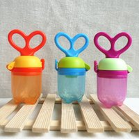 Wholesale Pacifier Fashion - Fashion Cute Silicone Baby Pacifier Feeding Fruit Food Safe Nipple Infant Soother Toddler Teether Bite Bag Pacifier T7036