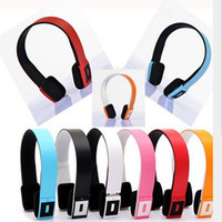 Wholesale Bluetooth Bh - High Quality Bluetooth 2ch Stereo Audio Headset BH 23 Unique bluetooth headset earmuff bluetooth headphones BH23 30pcs lot