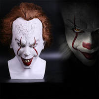 Wholesale Clown Cosplay - 2017 Movie Stephen King's It Pennywise Clown Joker Mask Tim Curry Mask Cosplay Halloween Party Props Mask