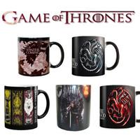 Wholesale Ceramic Games - 5 Style Game Of Thrones Mugs Magic Color Changing Tea Coffee Cups Ceramic Milk Cups