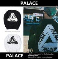 Wholesale Hood Fleece - New Trend PALACE SKATEBOARDS SMALL S SS16 CLASSIC TRI FERG BLACK WHITE OG HOOD Fashion Mens Skateboards Sweatshirts