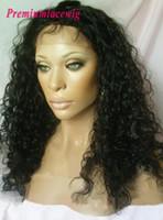 Wholesale Curly Full Lace Fronts - Malaysian Virgin Hair Lace Front Wig Deep Curly Full Lace Wig Hair Grade 7a Human Hair Wigs For Black Women