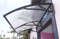 Wholesale DS100200 A x200CM New Design Window Awning Popular In USA Easy To Install Aluminum Frame Polycarbonate Door Canopy