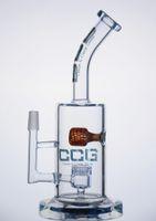 ingrosso marmi di vetro-CCG 2016 nuovo arrivo tubi di vetro acqua bong di vetro base spessa con un marmo e un percento maschio 14,5 millimetri jet comune